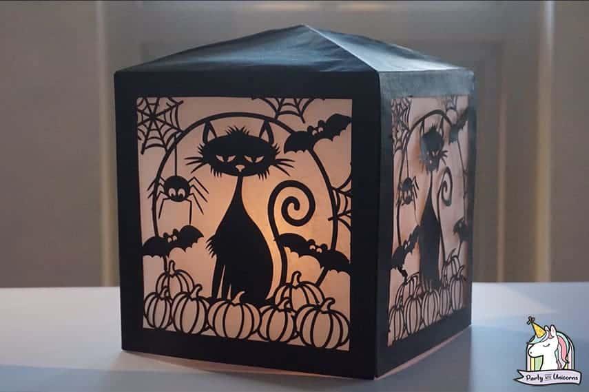 DIY Cricut Halloween-Paper-Lantern