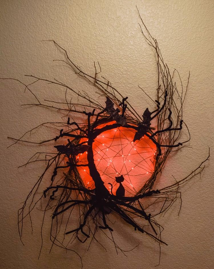 Spooky Tree Halloween Wreath