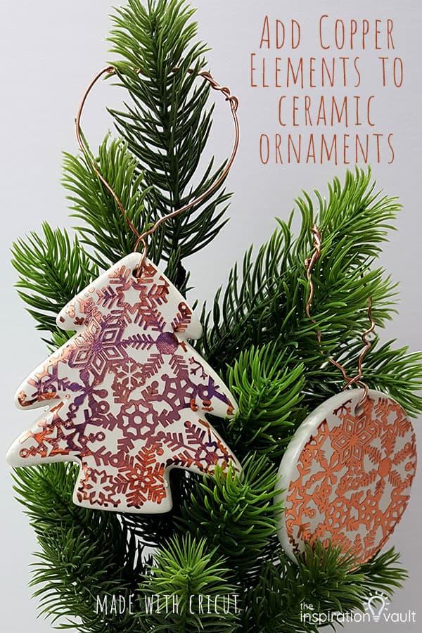 Copper Accent Ceramic Ornaments