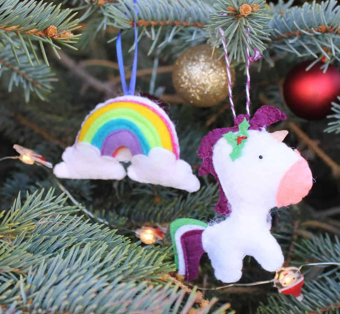 Cricut Christmas Ornament Idea with Felt