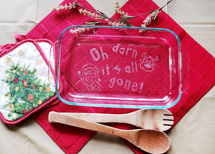 DIY Etched Casserole Dish