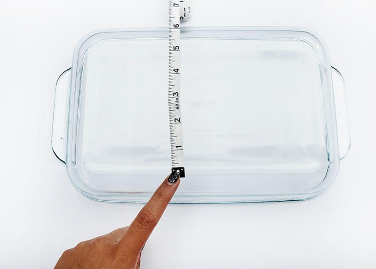 Glass Baking Dish with Etching Cream Tutorial