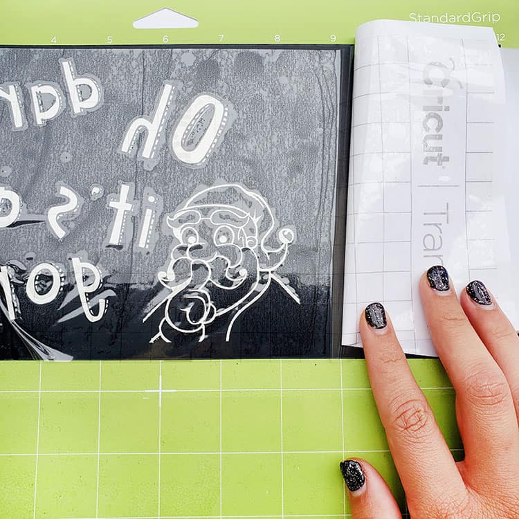 How to use a stencil with etching cream