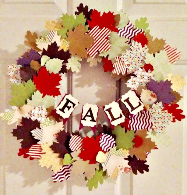 Paper-Leaf-Fall-Wreath-With-Cricut-Our-Crafty-Mom