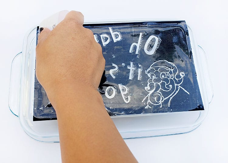 Stencil Etching Cream Pyrex Dish Tutorial