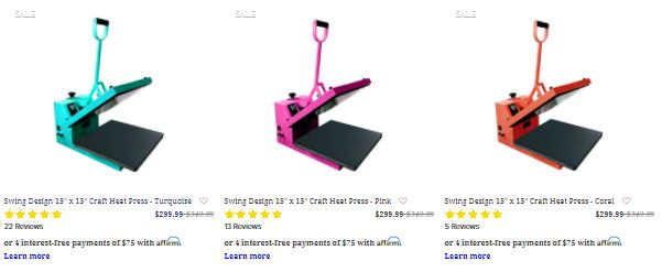 heat press cyber monday deals