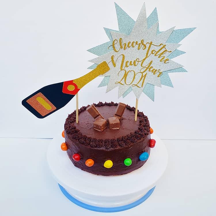 Cardstock Cake Topper