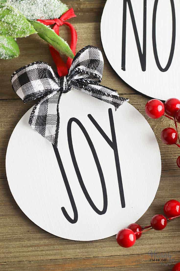 Easy DIY Rae Dunn Christmas Ornaments
