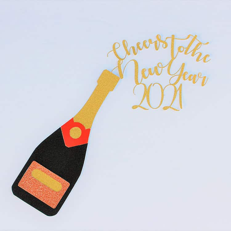 New Years Cake Topper SVG