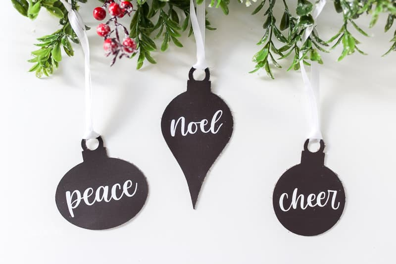 Simple DIY Leather Christmas Ornaments