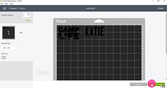 Arrange SVG on mat