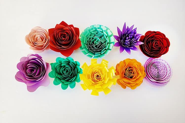 Cricut-Rolled-Flowers