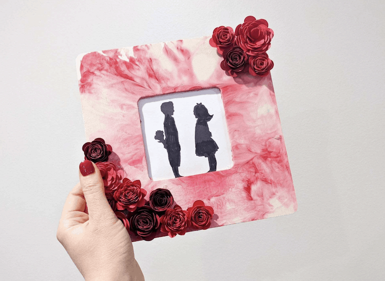 Paper Flower Photo Frame