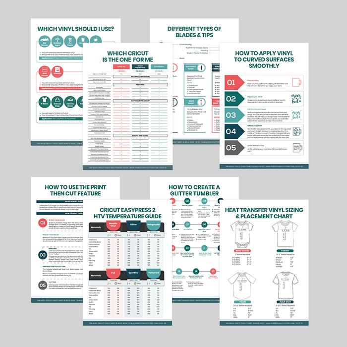 Cricut Cheat Sheets PDF Book