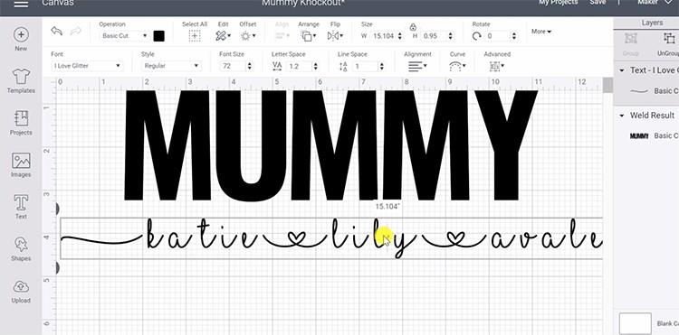 Flourishes I love Glitter font