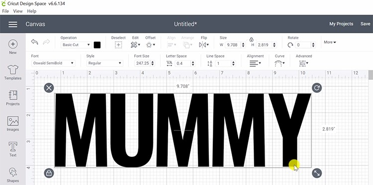 Mummy for Knockout Text effect