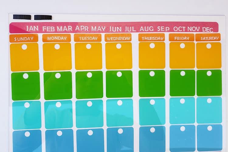 Add-Magnetic-Strips-to-DIY-Acrylic-Calendar