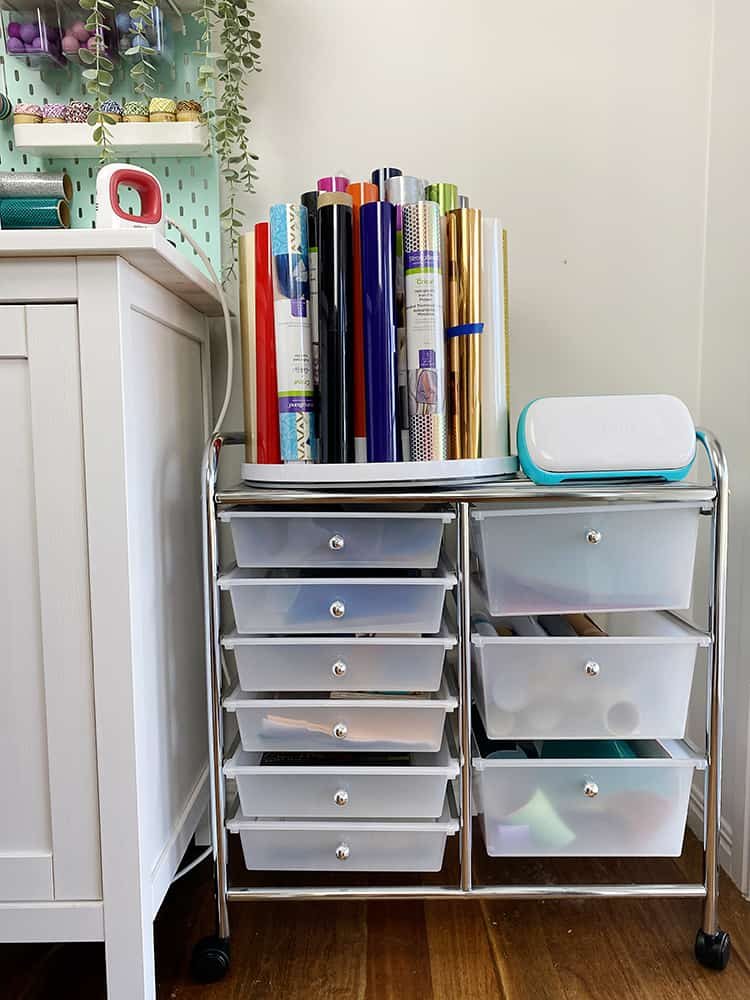 Craft Trolley to store vinyl