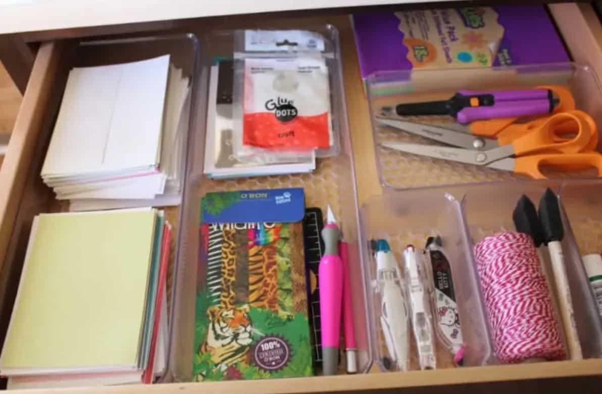 Craft drawer organizer