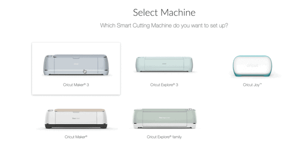 Cricut Design Space Machine Options