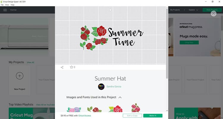 Cricut Summer Hat SVG