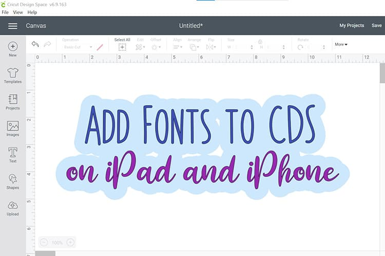 How to Add Fonts to Cricut Design Space on iPad & iPhones