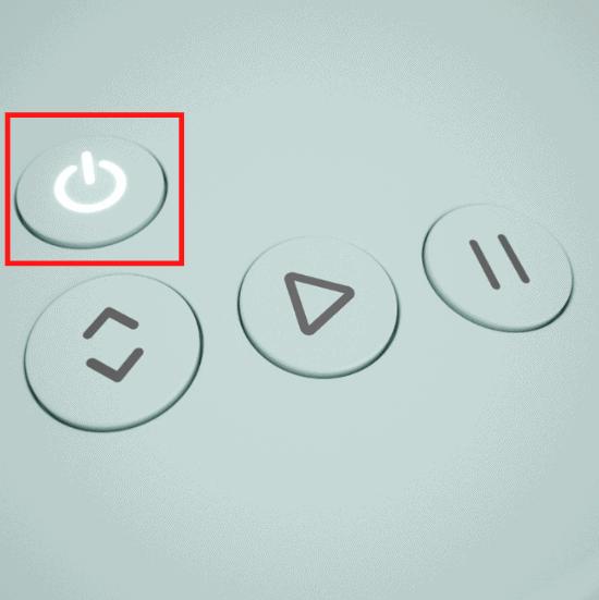 Switch on Cricut Explore 3