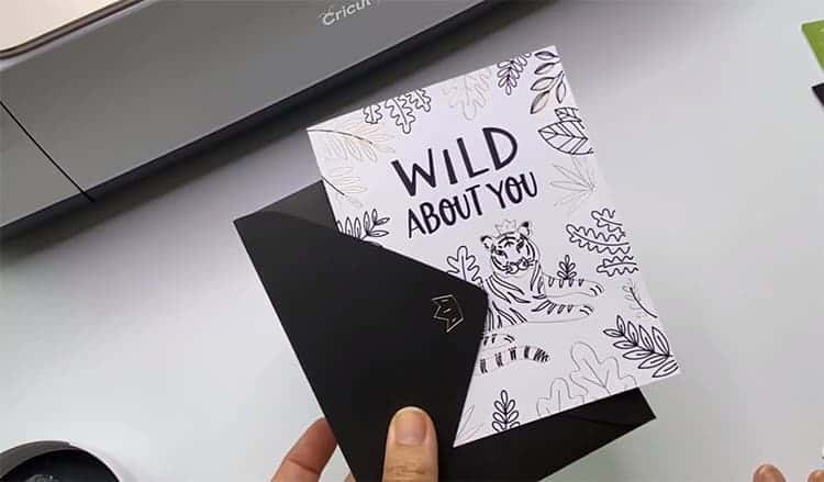 Wild About You Cricut Card