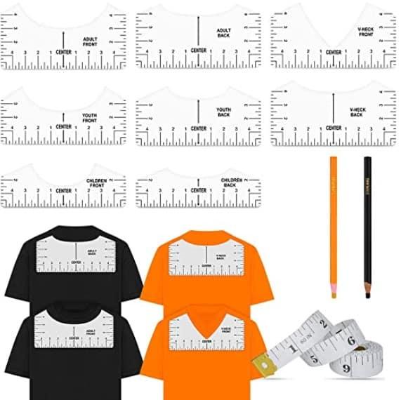 t shirt alignment rulers