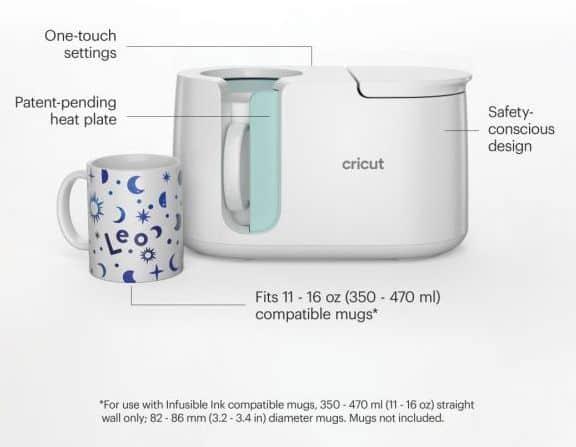 Cricut Mug Press Features