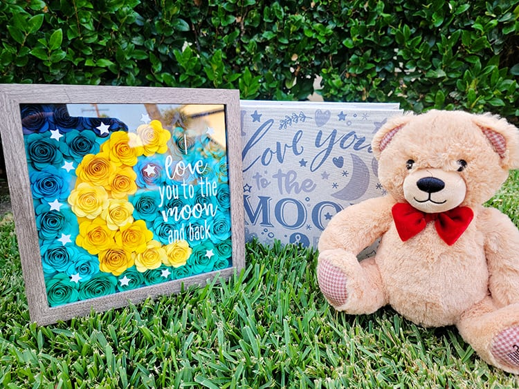How to Make an Ombre Paper Flower Shadow Box with Cricut