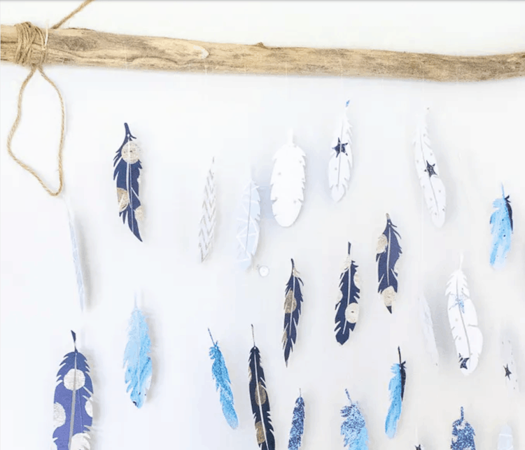 Paper Feather Decor