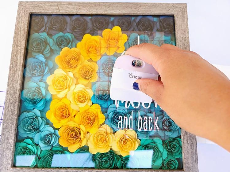 Paper Flower Shadow Box Tutorial
