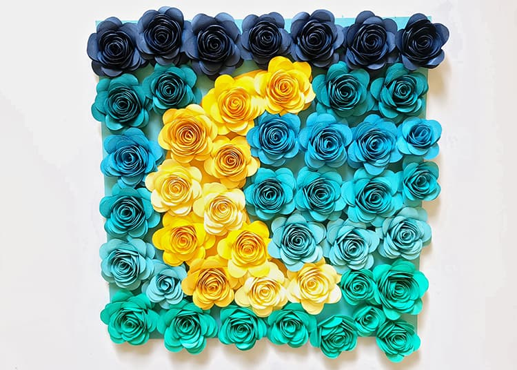 Rolled Paper Flowers for Shadow Box